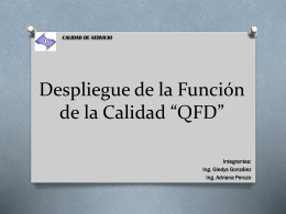 Blitz QFD - CALIDAD-DE-SERVICIO