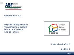 """""""Esta es Tu Casa"""" en 2012 - Auditoría Superior de la Federación"""