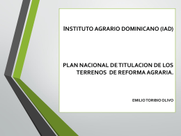 Titulación en la Reforma Agraria