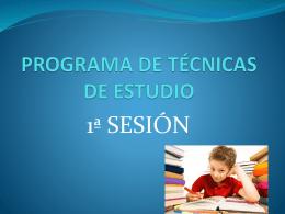 Programa de Técnicas de Estudio 1
