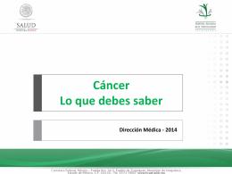 Cáncer - Hospital Regional de Alta Especialidad de Ixtapaluca