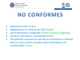 no conformes