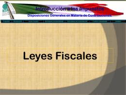 LEYES FISCALES - Colegio de Bachilleres