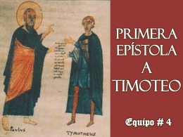Primera Epístola a Timoteo