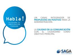 Habla - Participación Ciudadana
