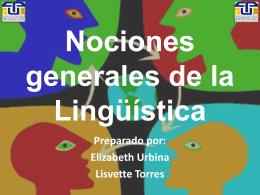 Nociones generales de la Lingüística