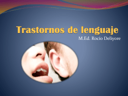 Trastornos de lenguaje - OE0360-NEE-ROCIODELIYORE