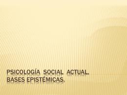 los nuevos teóricos de la psicología social