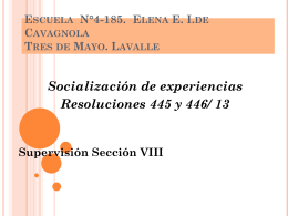 Escuela 4-185 Elena Elvira Imazio de Cavagnola Tres de Mayo