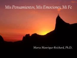 MisPensamientos,mies emociones y mi FE