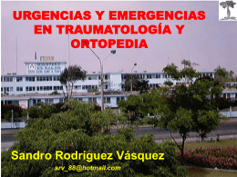 URGENCIAS Y EMERGENCIAS TRAUMATOLOGICAS