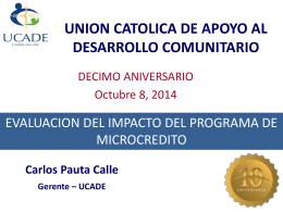 union catolica de apoyo al desarrollo comunitario