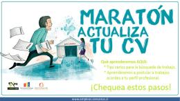 Maratón actualiza tu CV