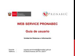 Operación - Pronabec