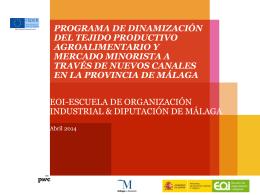Dinamización del tejido productivo de la Provincia de Lugo