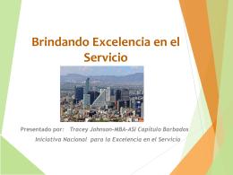 Brindando Excelencia en el Servicio