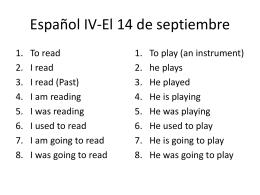 Español IV-El 14 de septiembre