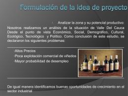Formulación de la idea de proyecto