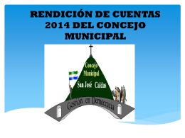 RENDICIÓN DE CUENTAS 2013 DEL CONCEJO MUNICIPAL