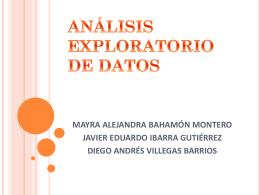 análisis exploratorio de datos mayra alejandra bahamón montero