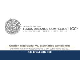 Rita Grandinetti (IGC Rosario)