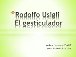 Rodolfo Usigli El gesticulador