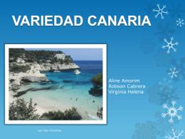 variedad canaria - Variedades de la lengua española