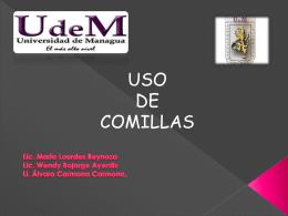 las comillas - Prof. María de Lourdes Reynoso