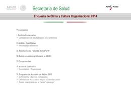 Encuesta de Clima y Cultura Organizacional 2014