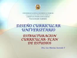 Estructuración curricular - Vicerrectorado Academico