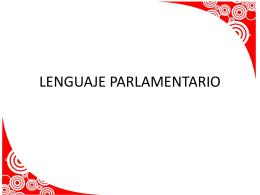 LENGUAJE PARLAMENTARIO (241063)