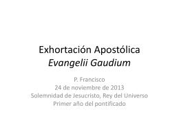 Generalidades Evangelii Gaudium