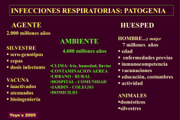 infecciones respiratorias: patogenia