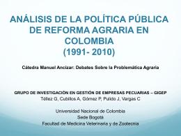 Gonzalo Tellez Presentación Cátedra