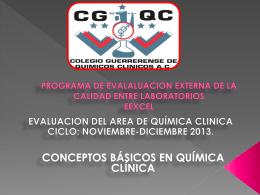 programa de evalaluacion externa de la calidad entre laboratorios