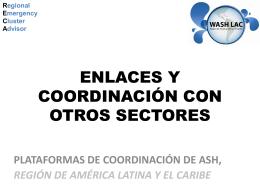 4 La coordinación entre sectores Presentación General