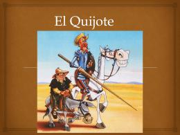 AP Repaso del Quijote cap 2 a 4