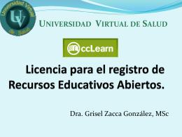 ccLearn Licencia para el registro de REA.