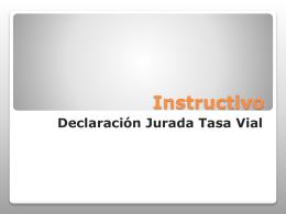 Instructivo Declaración Jurada Tasa Vial PASO N°1
