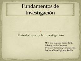 Fundamentos de Investigación - MC José Antonio García Dávila