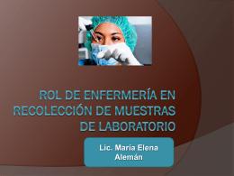 rol de enfermería en recolección de muestra