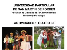 U SAN MARTIN Presentación curso