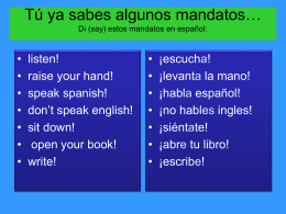 Power Point Spanish II 3B commands