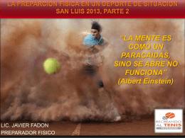 paradigmas en un deporte de situacion san luis 2013, parte 2 - G-SE