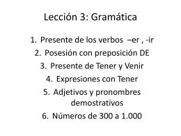 Lección 3: Gramática