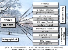 Class Notes – El verbo tener