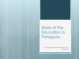 Estado de la Educación en Paraguay
