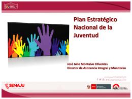 4. Plan Estratégico Nacional de la Juventud José Julio Montalvo