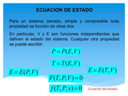 Ecuaciones de Estado