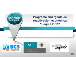 Programa de reactivación económica en el Estado de Tabasco